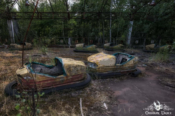 Chernobyl Pripyat Amusement Park Bumper Cars