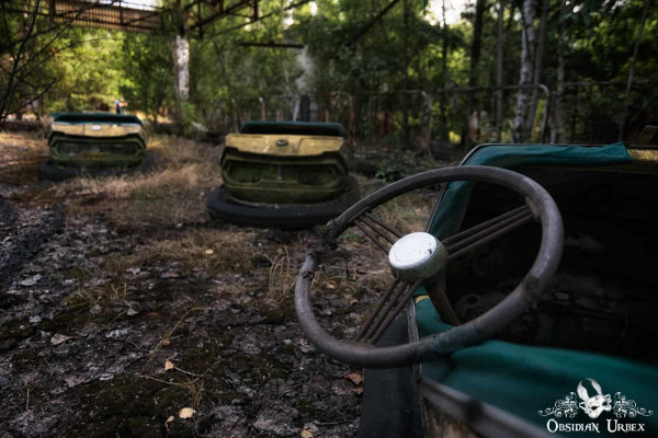 Chernobyl Pripyat Amusement Park Bumper Cars Wheel
