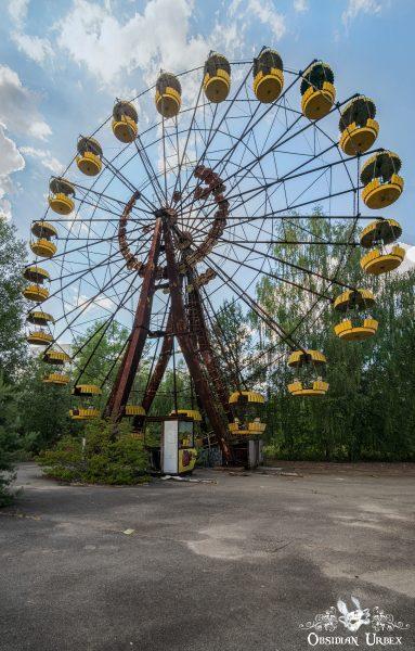 Chernobyl Pripyat Amusement Park Ferris Wheel Colour