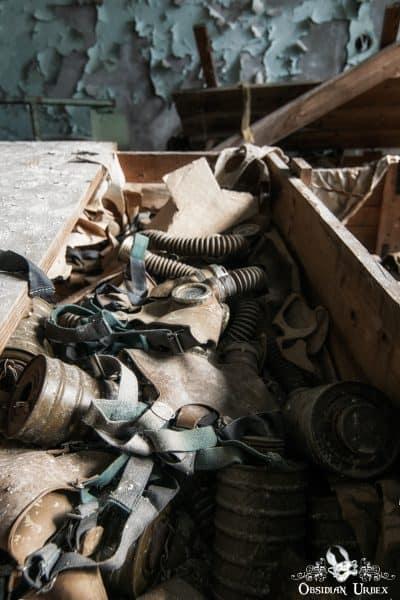 Chernobyl Pripyat Gas Mask School Box