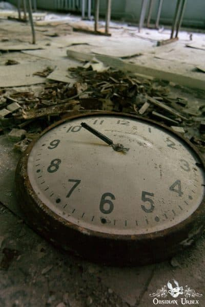 Chernobyl Pripyat Gas Mask School Clock