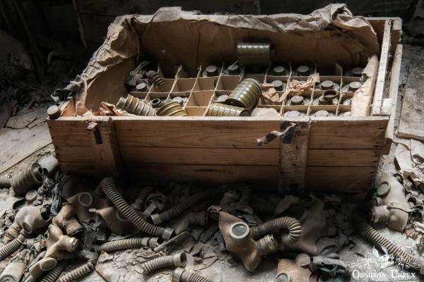 Chernobyl Pripyat Gas Mask School Crate