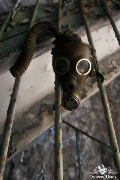 Chernobyl Pripyat Gas Mask School Mask Stairs