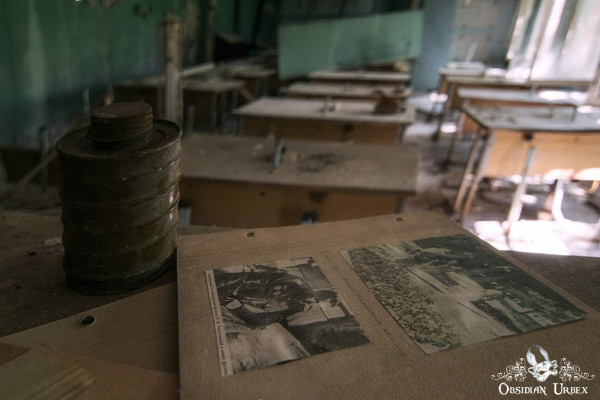 Chernobyl Pripyat Gas Mask School Photographs