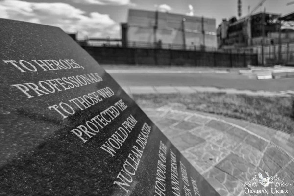 Chernobyl Nuclear Power Plant Reactor Memorial Slab