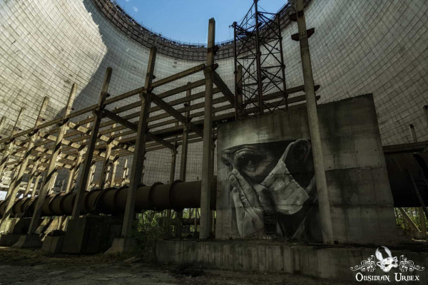 Chernobyl Nuclear Power Plant Reactor Cooling Tower Graffiti