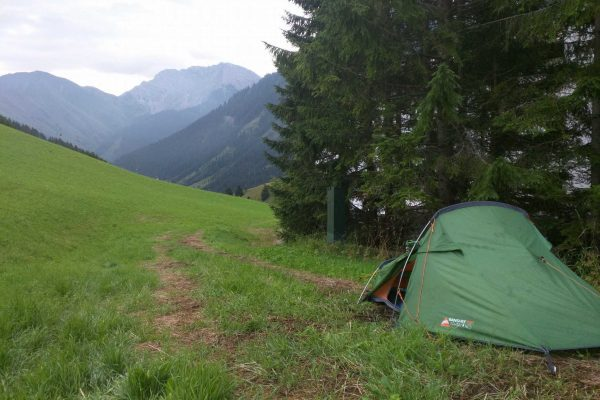 Camping in the Austrian Mountains