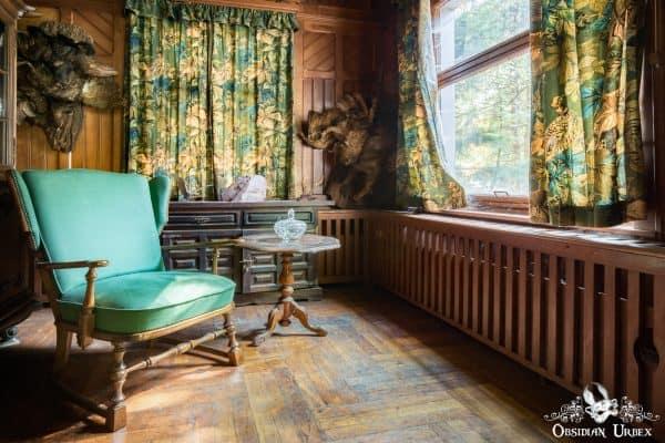 Hunters Hotel Jagerhotel Germany Sofa Chair and Window