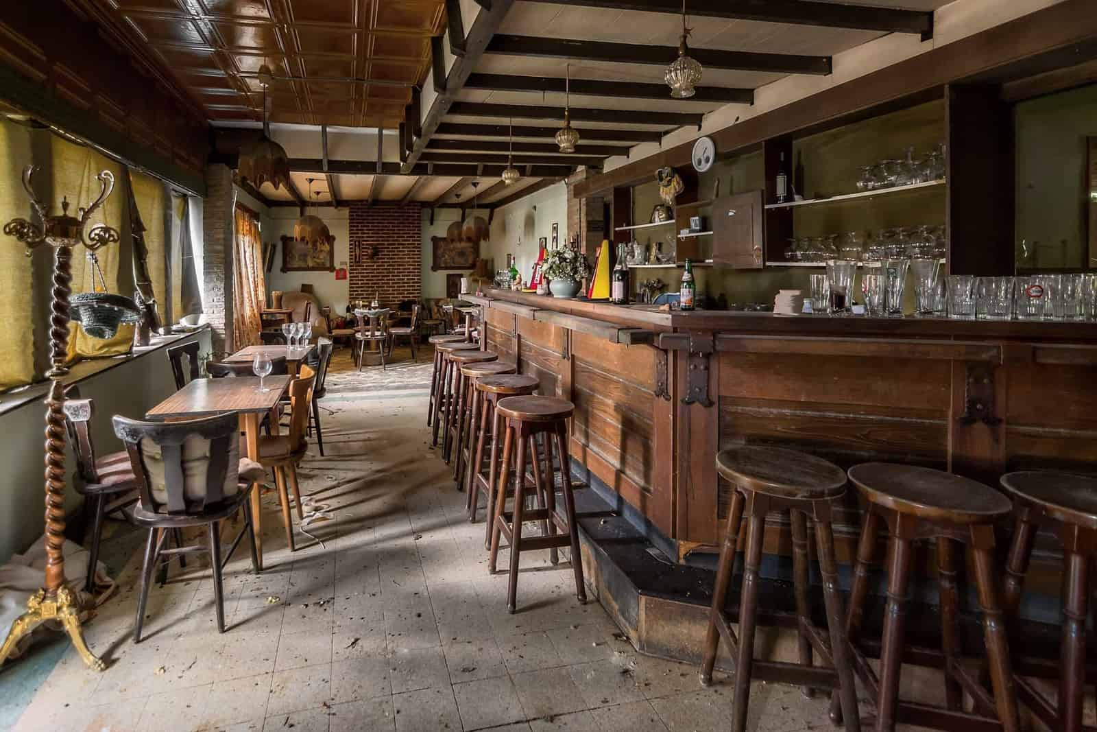 Cafe ons Moe Belgium Abandoned Pub Bar Room Featured Image