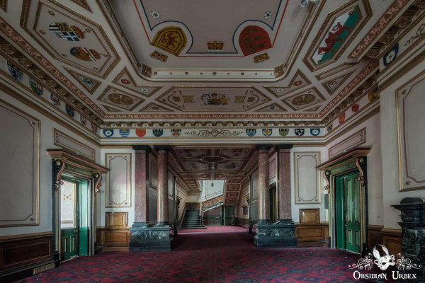 School of Malady England abandoned school entry hall with main stairway