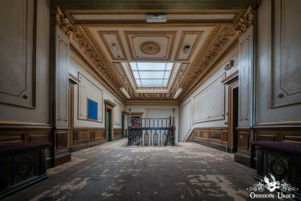 School of Malady England abandoned school main staircase from first floor