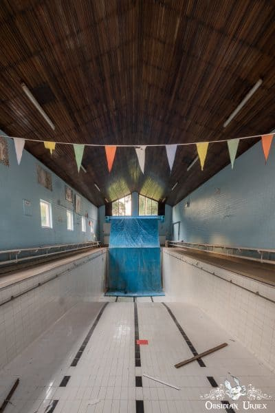 School of Malady England abandoned school swimming pool