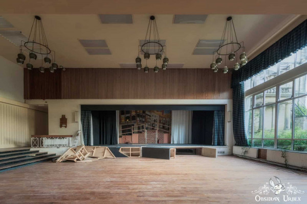 School of Malady England abandoned school theatre stage for performing arts