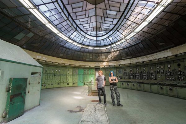 Selfie in Special K Hungary abandoned control room