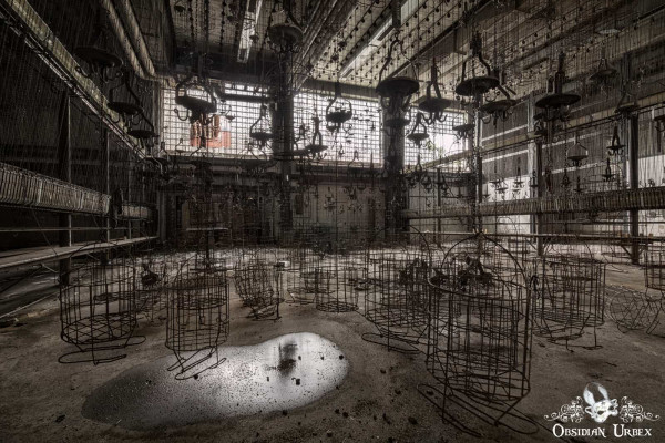 Zeche P Germany Abandoned Coal Mine Clothes Cages and Chains Room Landscape
