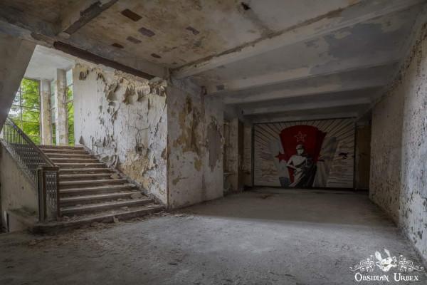 Soviet Nazi Abandoned CCCP Flight School Germany Corridor