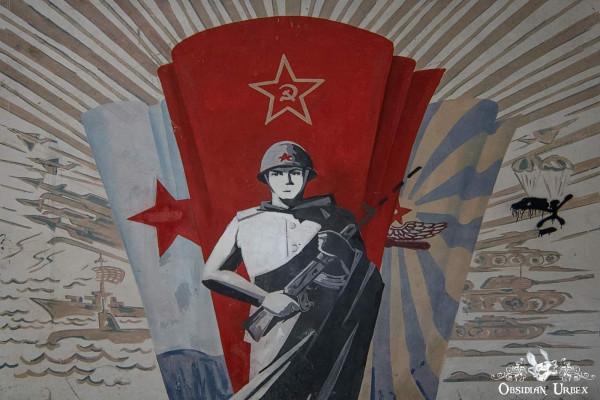 Soviet Nazi Abandoned CCCP Flight School Germany Corridor Communist Army Military Mural