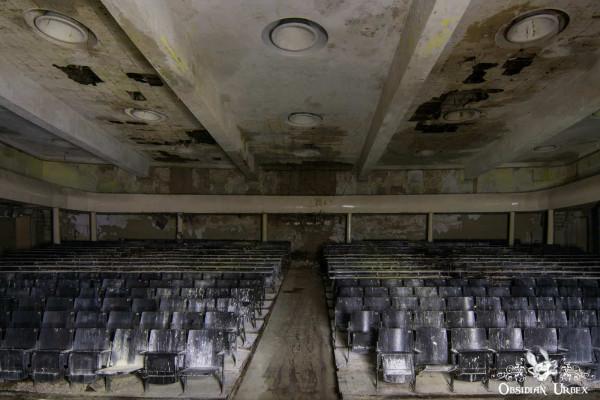 Soviet Nazi Abandoned CCCP Flight School Germany Corridor Lecture Theatre