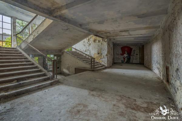 Soviet Nazi Abandoned CCCP Flight School Germany Corridor Two Stairs
