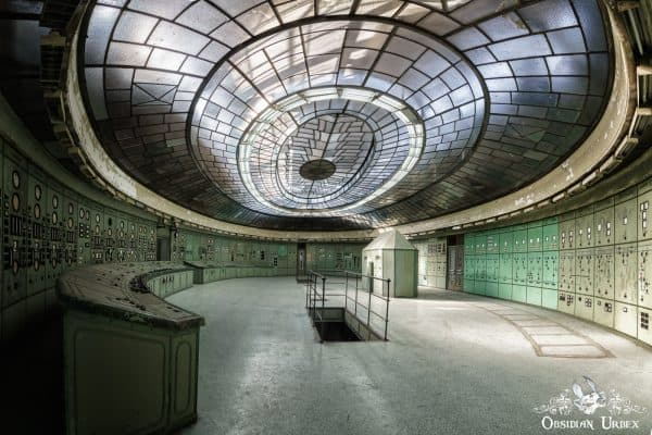Special K Hungary abandoned power plant control room panorama
