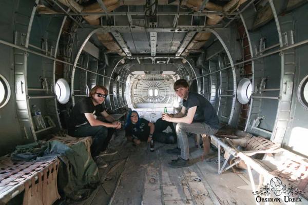 War Planes Janine Pendleton Jack Alford Jack Massey In Abandoned Airplane Fuselage France