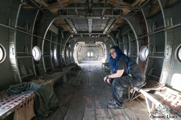 War Planes Janine Pendleton Sitting In Abandoned Airplane Fuselage France