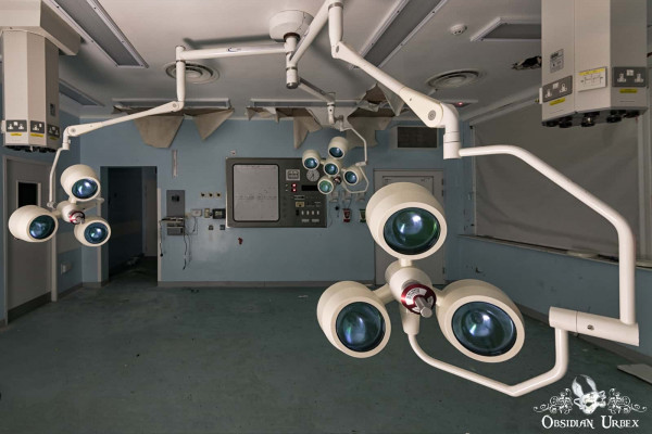 Hospital S England abandoned A&E accident and emergency operating theatre two