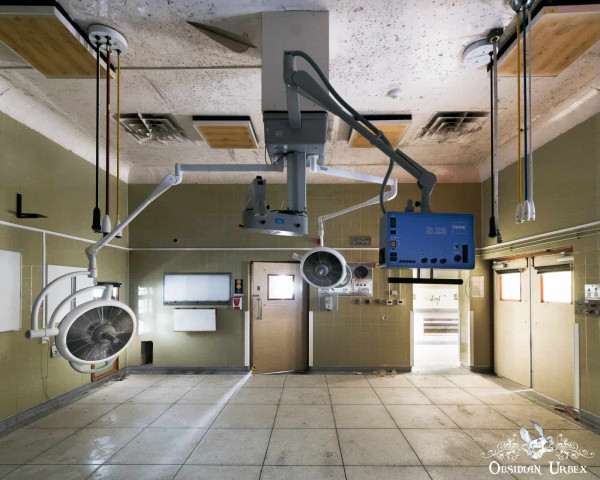Hospital S England abandoned old 1950s operating theatre four
