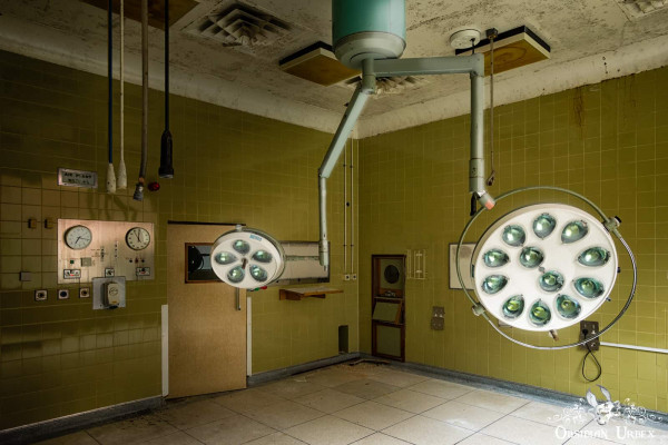 Hospital S England abandoned old 1950s operating theatre two