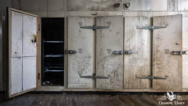 Morgue S England abandoned mortuary body fridges