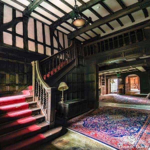 Rockstar Mansion England abandoned manor house main stairs