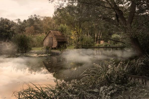 Sunset Fishing Village Hungary Featured Image