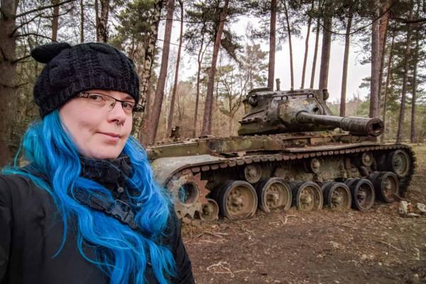The Panzer Tour 2017 Janine Pendleton Selfie Lost Panzer Tank Germany