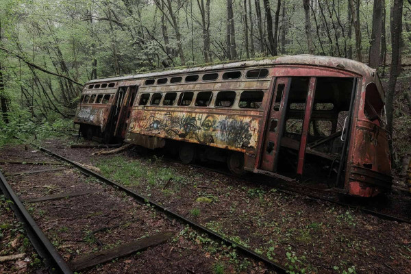 Trolley Car Graveyard USA Featured Image