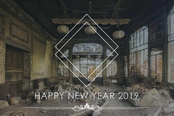 Goodbye to 2018 Happy New Year 2019 Geometric Obsidian Urbex Photography Blog