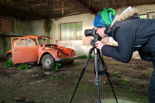 Belgium Winter 2019 Urbex Tour Blog Janine Pendleton Photographing Abandoned Red Beetle