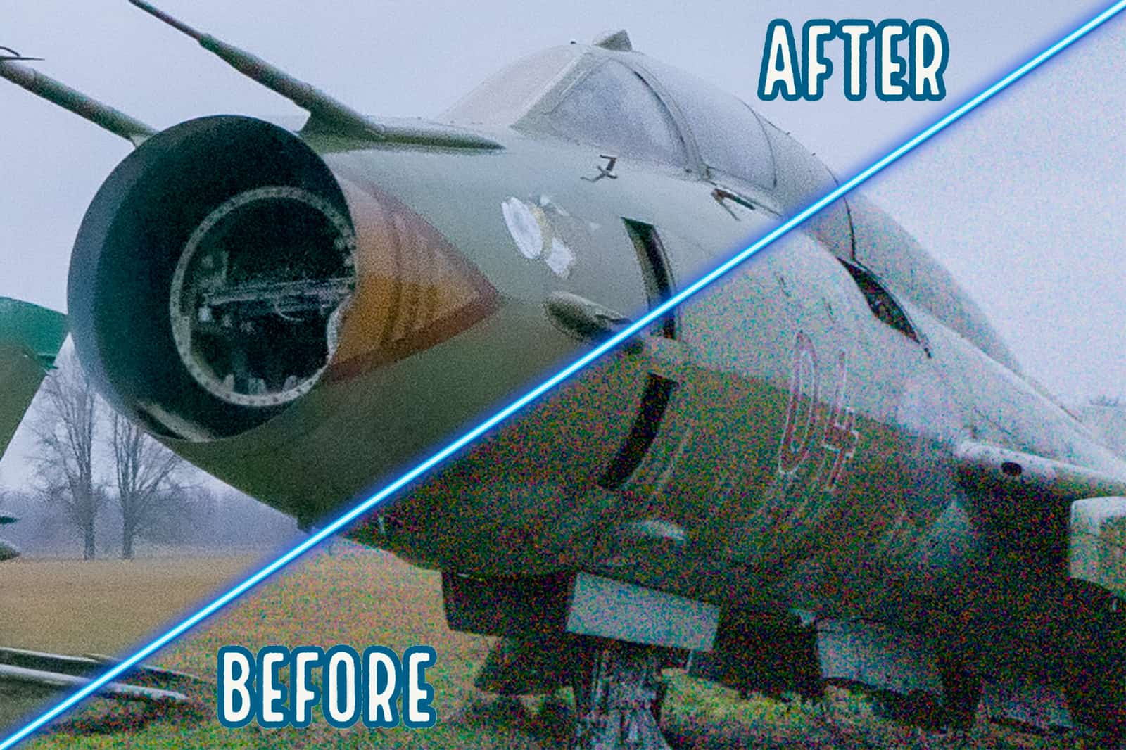 Tutorial Noise Reduction Featured Image Before After